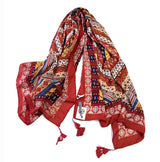 Reds Flowing Batik Throw - ESMEBO