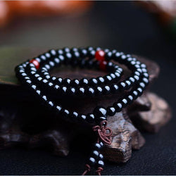 Black & Red Mala Beads - ESMEBO