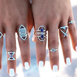 Triangular Temptations 8-Piece Ring Set - ESMEBO