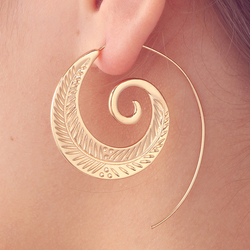 Leaf in Flight Spiral Earrings - ESMEBO