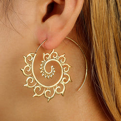 Surya Namaskar Spiral Earrings - ESMEBO
