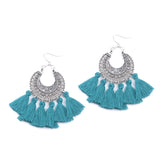In Fringe Tassel Hoop Earrings - ESMEBO