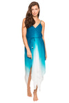 Tie Dye Ombre Handkerchief Maxi Dress