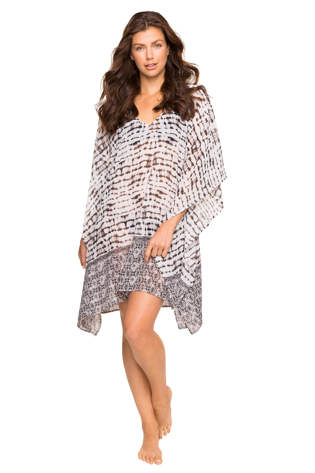 Oversized Printed Kaftan Cover Up