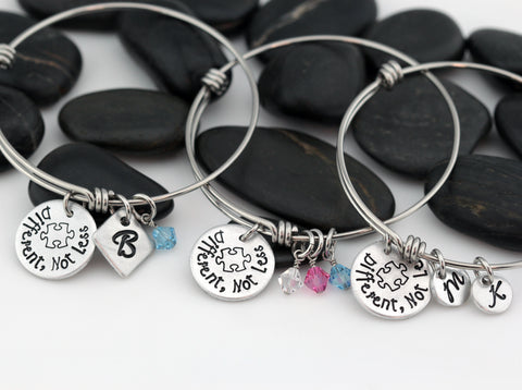 Different, Not Less | Personalized Expandable Bangle Bracelet