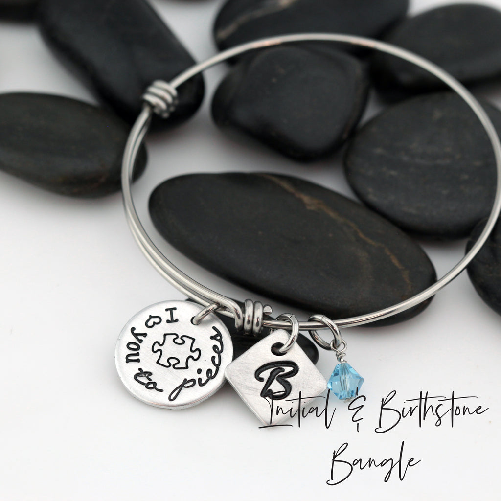 I Love You To Pieces | Personalized Expandable Bangle Bracelet