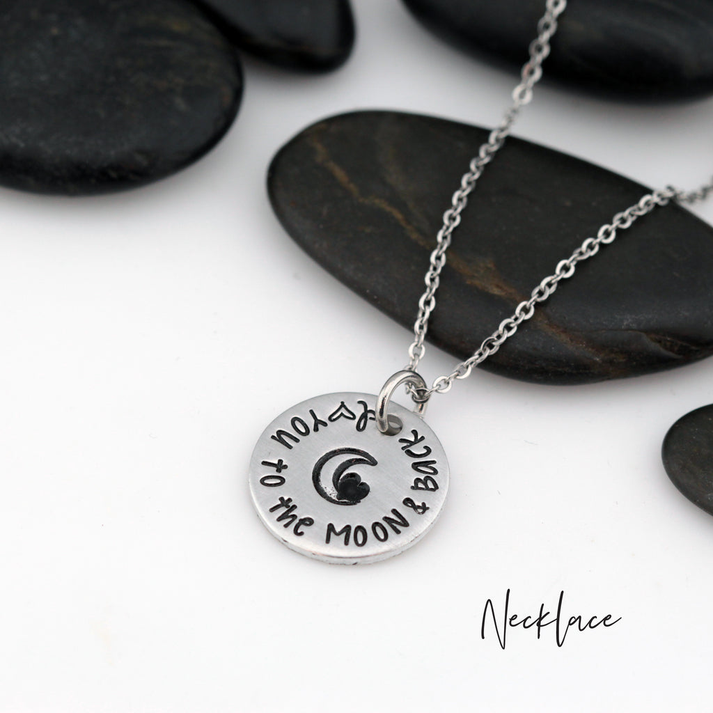 I Love You To The Moon And Back - Necklace | Expandable Bangle | Bracelet