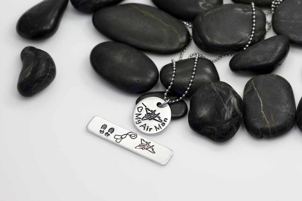 I Love My Air Man Hand Stamped | Custom | Necklace - Hand Stamped