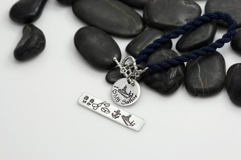 I Love My Sailor Hand Stamped | Custom | Boot Band Bracelet