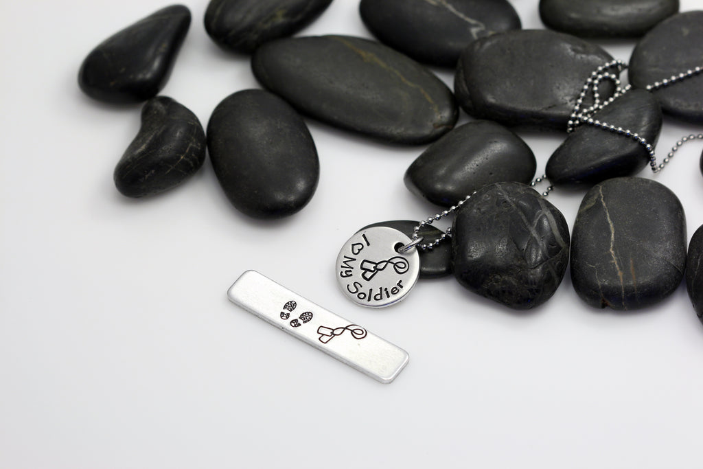 I Love My Soldier Hand Stamped | Custom | Necklace - Hand Stamped
