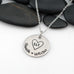 Large Heart | Personalized Names With Initials | Custom Mother's Necklace - Hand Stamped