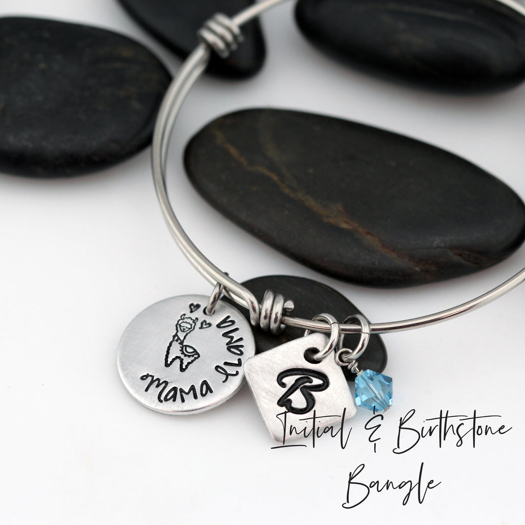Mama Llama - Personalized Expandable Bangle Bracelet