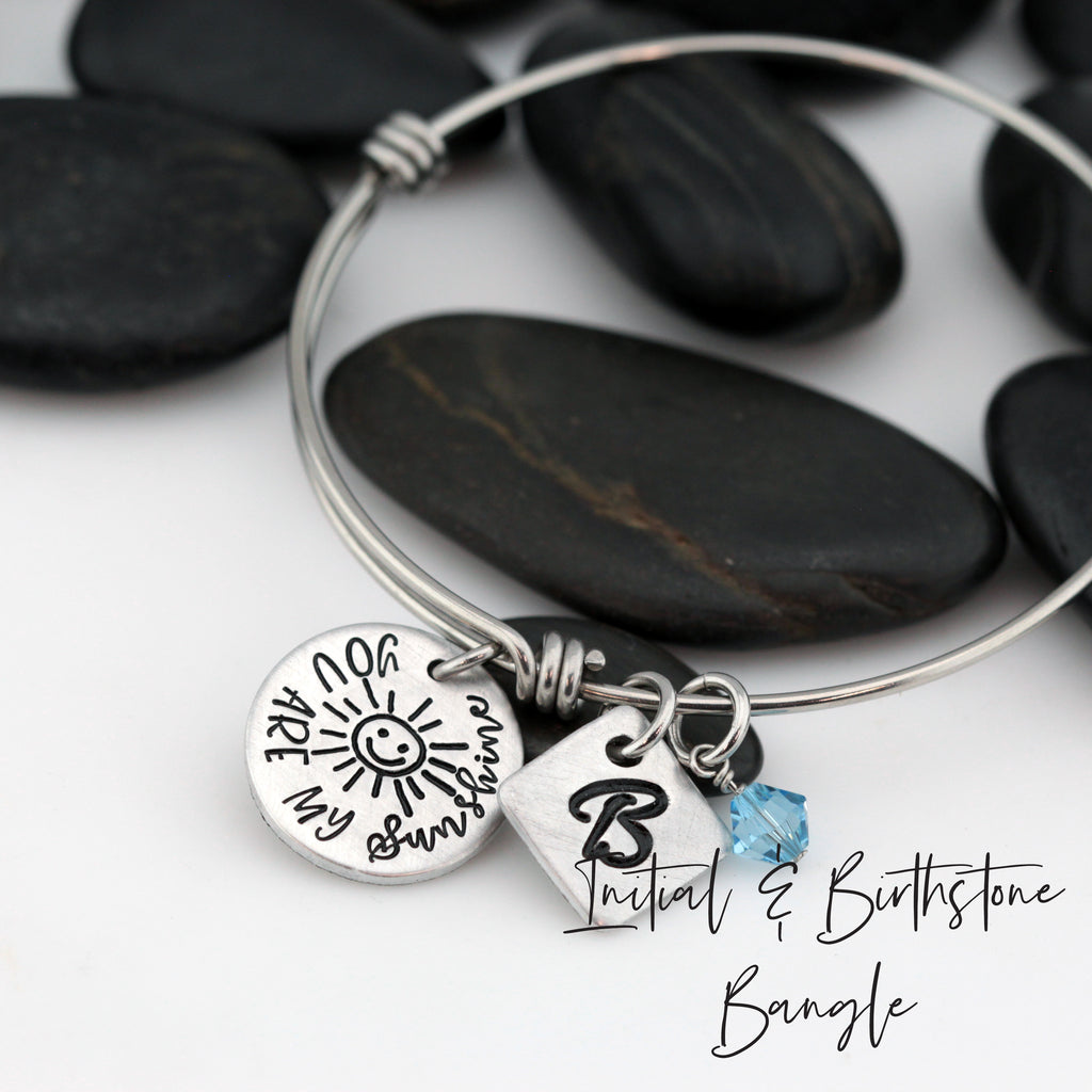 You Are My Sunshine - Personalized Expandable Bangle Bracelet