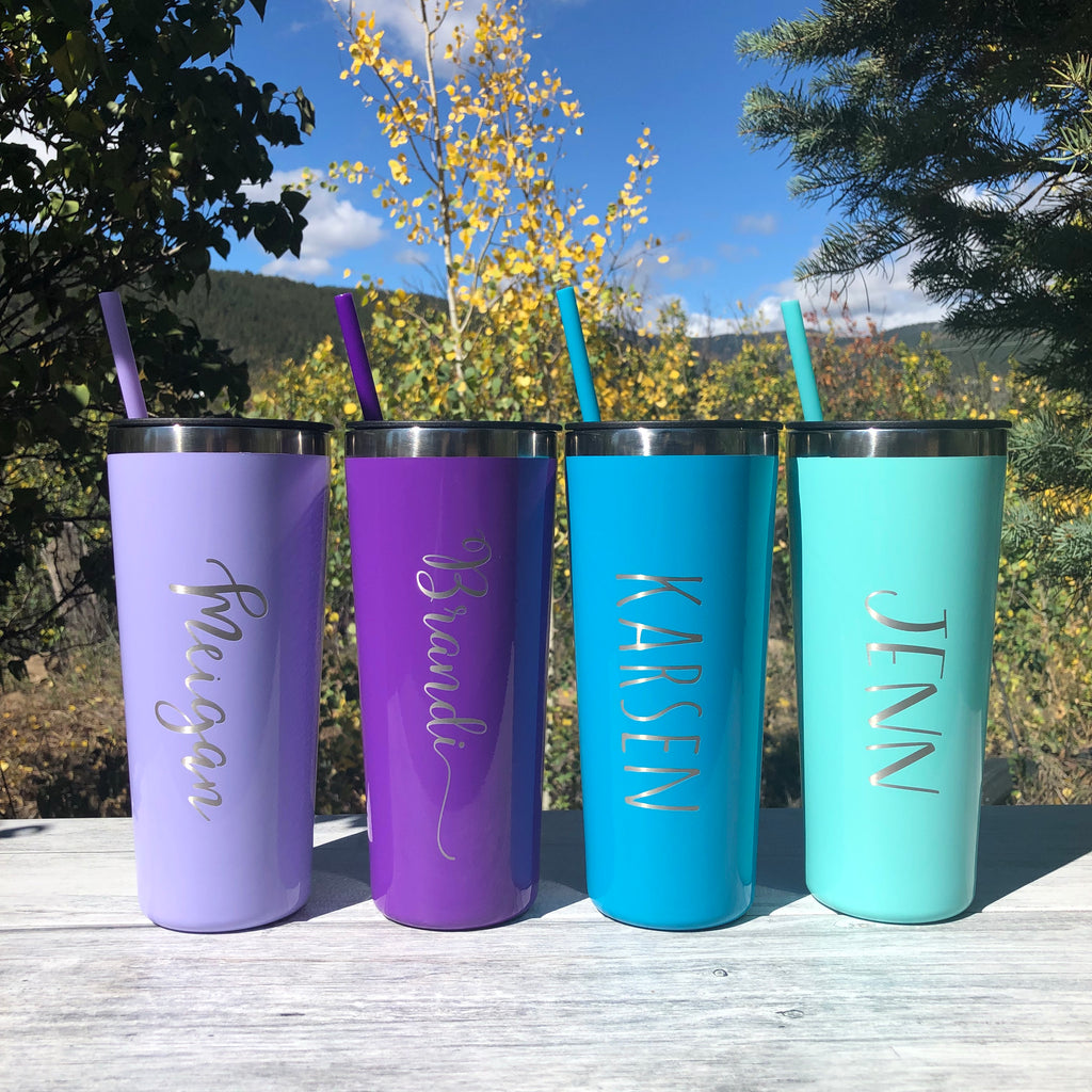 Personalized Name | Engraved 22oz Stainless Steel Roadie Tumbler - Hand Stamped