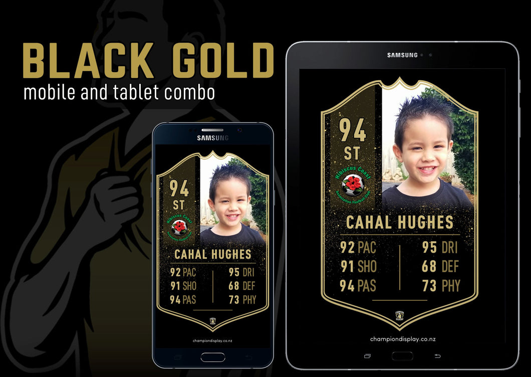 Black Gold Digital Football Card Combo