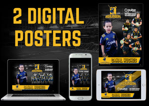 2 Personalised Highlanders Digital Posters