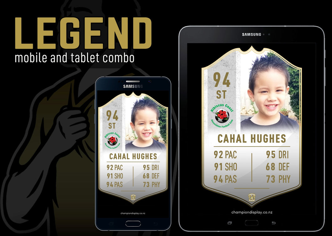 Legend Digital Football Card Combo