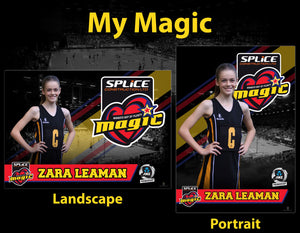 2 Personalised Magic Digital Posters