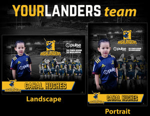 Highlanders Printed A2 Poster and 2 Digital Posters