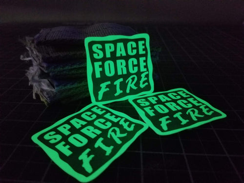 Space Force Heat Glow Helmet Sticker