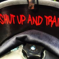 Shut Up And Train Underbrim Decals