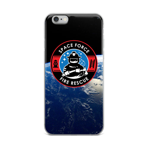 Space Force Fire Planet iPhone Case