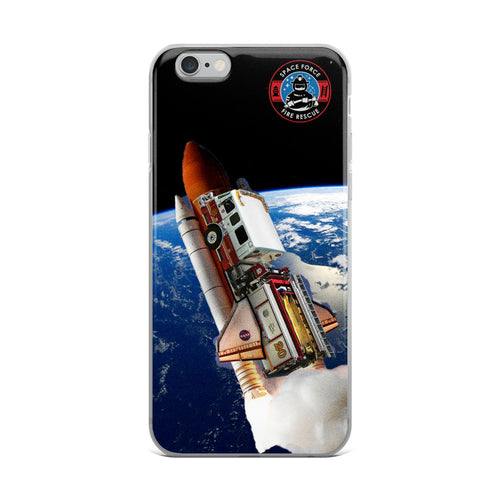 Space Force Fire Shuttle iPhone Case