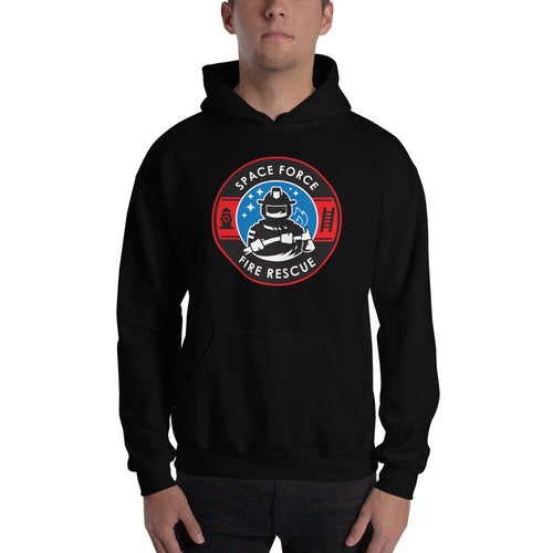 Space Force Fire Rescue Hooded Sweatshirt
