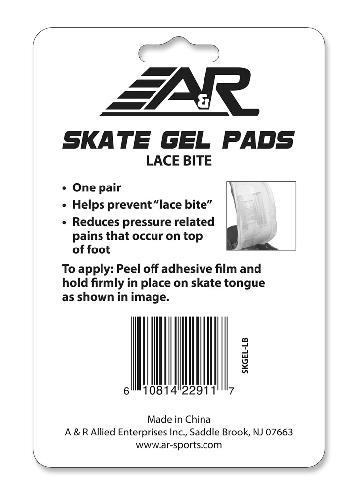 A&R Hockey Skate Lace Bite Gel Pads (1 Pair)