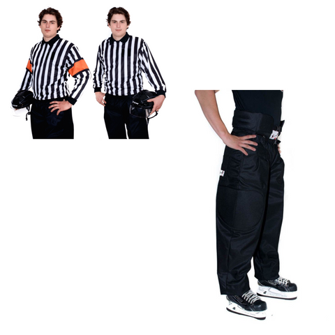 Hockey Ref Shop Pro Package! (QuickFlip Reversible Sweater, Crest Velcro, Stevens Pro Padded Pants)