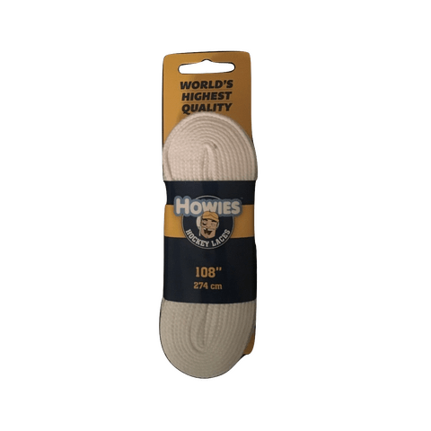Howies Solid White Referee Skate Laces - Hockey Ref Shop