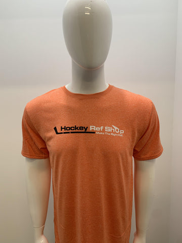 Orange Hockey Ref Shop Athletic T-Shirt