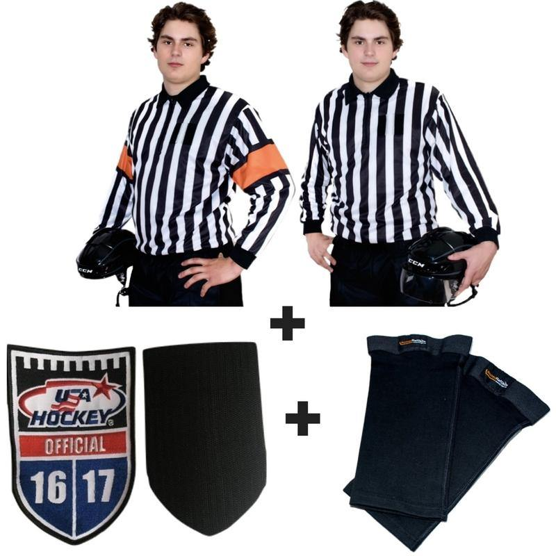 The Official Special! Top Rated QuickFlip Reversible Sweater + Crest Velcro + Shin Tights. Hockey Ref Shop  sc 1 st  Hockey Ref Shop & The Official Special! Top Rated QuickFlip Reversible Sweater + Crest V