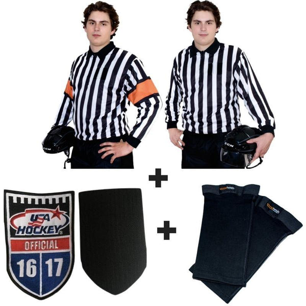 The Official Special! Top Rated QuickFlip Reversible Sweater + Crest Velcro + Shin Tights - Hockey Ref Shop