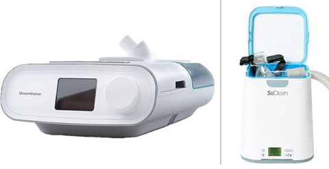 Dreamstation Go with So Clean CPAP Sanitizer