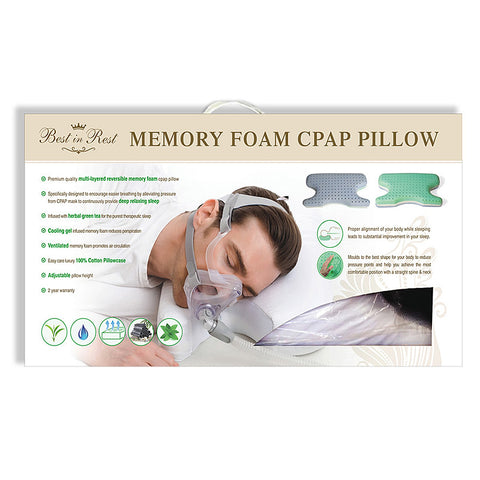 Best In Rest Memory Foam CPAP Pillow