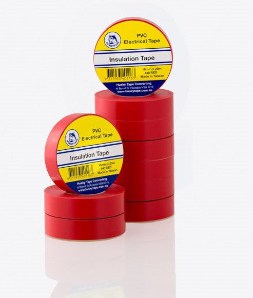 Red PVC Insulation Tape - 10 pack
