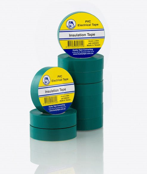 Green PVC Insulation Tape - 10 pack