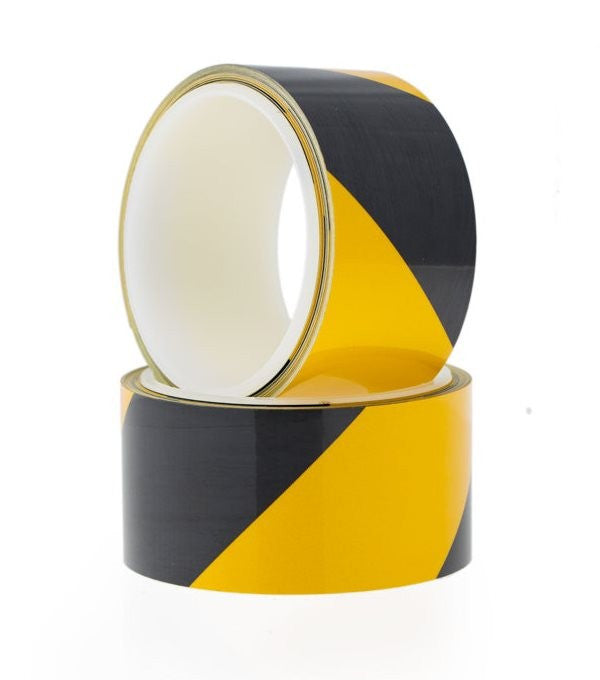 Yellow and Black Retro Reflective Hazard Tape - Safety Tapes/Reflective Tape - Tapes Online