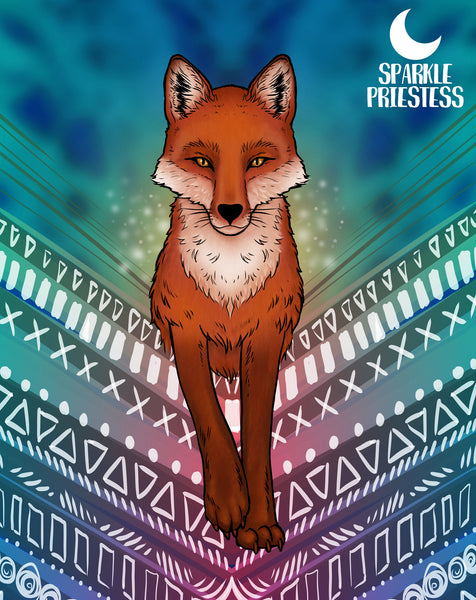 red fox artwork