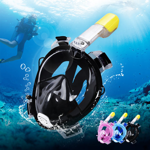 Snorkel Mask - Full Face Snorkel Mask Easybreath with Waterproof Earplugs and 180° Large Vision ( Anti-fog & Anti-leak )