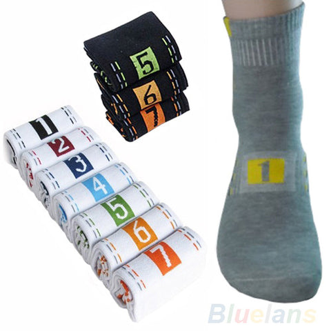 Image of 7 Pairs Weekly  Casual Men's Athletic Socks