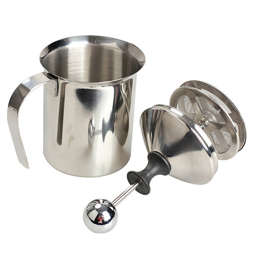 High Quality Stainless Steel Pump Milk Frother For Coffee