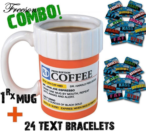 Creative Prescription Pill Bottle Ceramic Coffee / Tea Mug