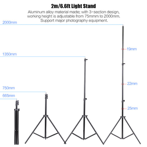 "|2-Pack| 33"" Cool White Soft Umbrella Stand Photography Continuous Lighting Kit"