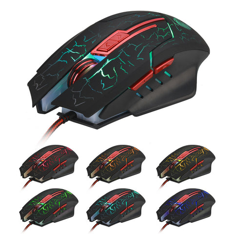 HXSJ Optical Professional Gaming Mouse Mice ( Adjustable 5500 DPI )