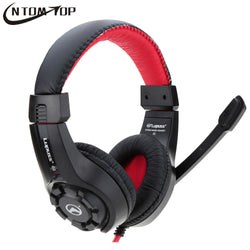 LUPUSS Adjustable 3.5mm Esport Gaming Headsets with Mic ( Deep Bass HiFi Stereo Gamer Headphones)