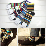 5 Pairs Men's Designer Fashion Dress Socks - Multi Color
