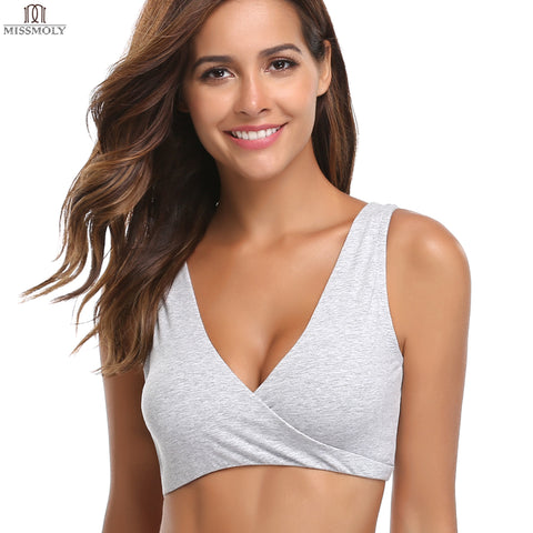 Extra Soft Organic Cotton & Wireless Nursing & Maternity Sleep Bra