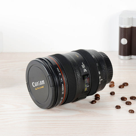 High Quality  SLR Camera Lens Coffee Cup/Mug With Lid